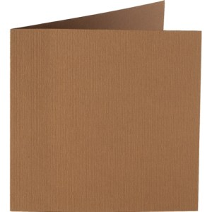 Papicolor carte double 140 x 140 - brun clair