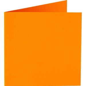 Papicolor carte double 140 x 140 - orange
