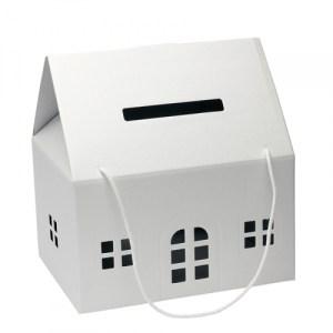 Urne maison - blanc