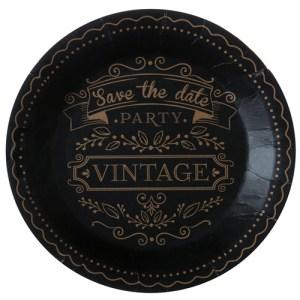 Assiette vintage - noir