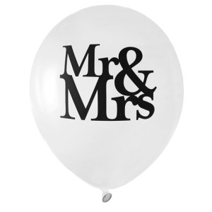 Ballon Mr et Mrs - blanc
