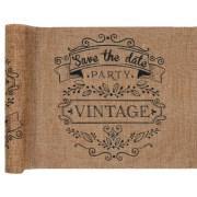 Chemin de table vintage - kraft