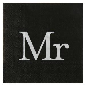 Serviette Mr - noir