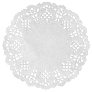 Set de table dentelle - blanc