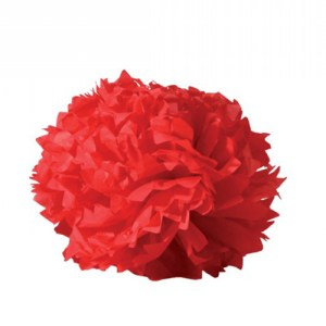 Boule crépon - rouge