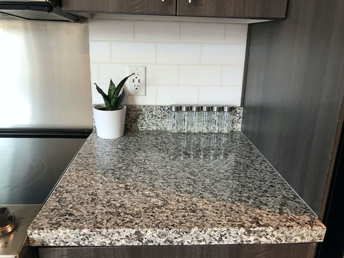 create a faux subway tile backsplash