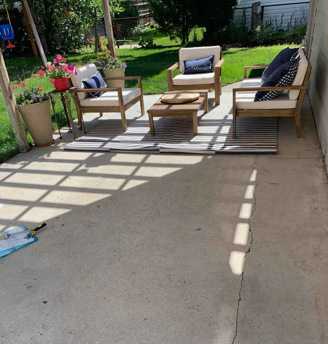 design your own concrete rug with a