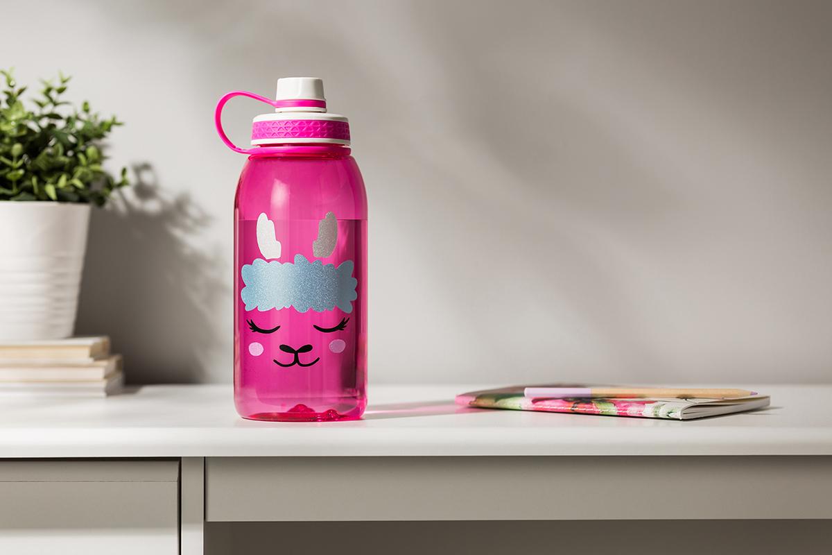 water bottle shimmer vinyl