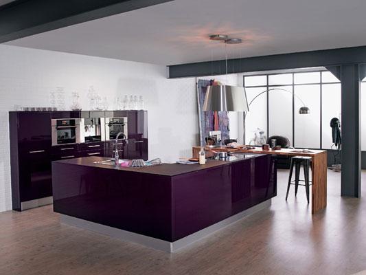 cuisine équipée violet