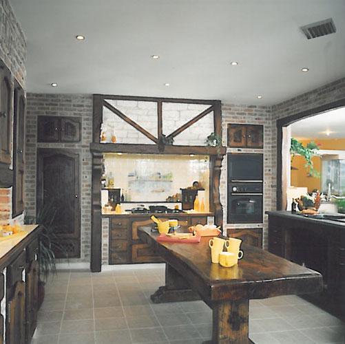 modele cuisine avec ilot central table