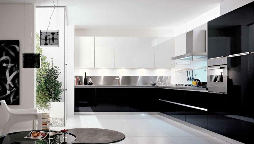 Une cuisine en noir et blanc  Inspiration cuisine