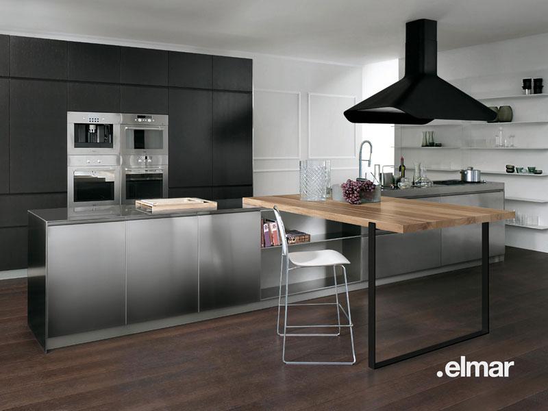 La cuisine bois et inox dElmar  Inspiration cuisine