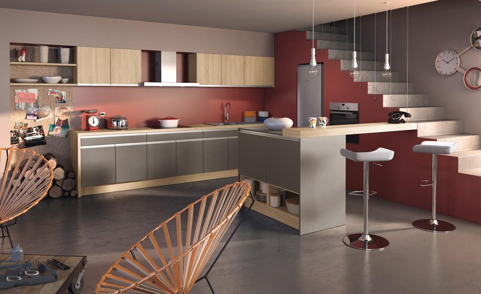 cuisine ilot centrale design