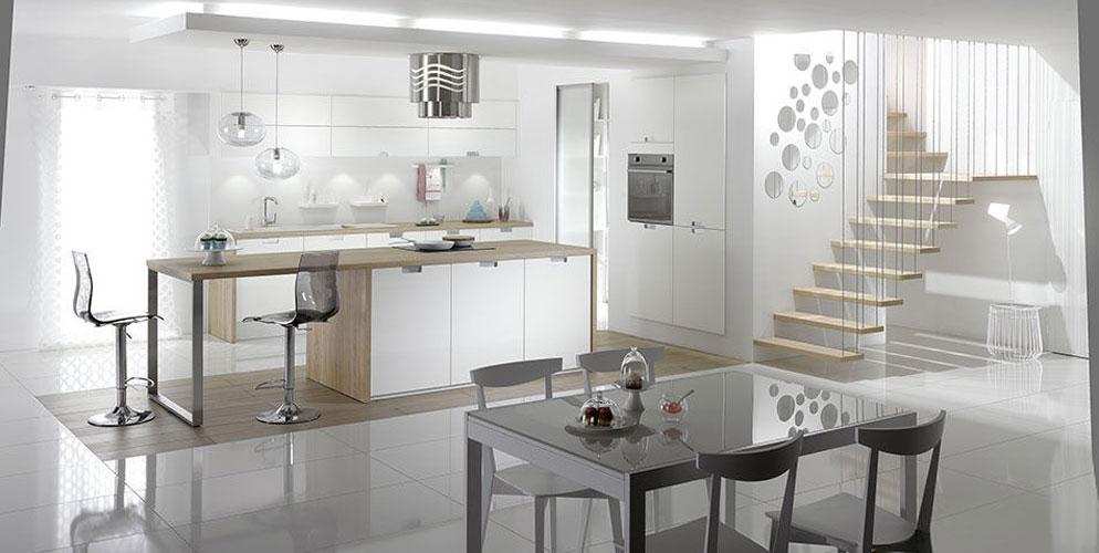 La cuisine blanche prend des couleurs  Inspiration cuisine