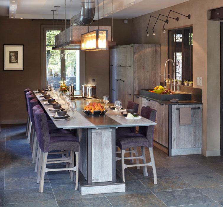 Les cuisines en bois  le retour au naturel  Inspiration