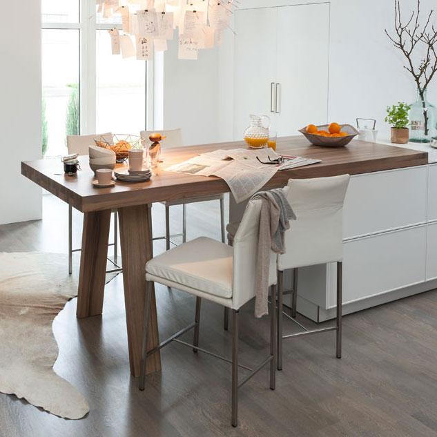 table de cuisine escamotable sous plan de travail