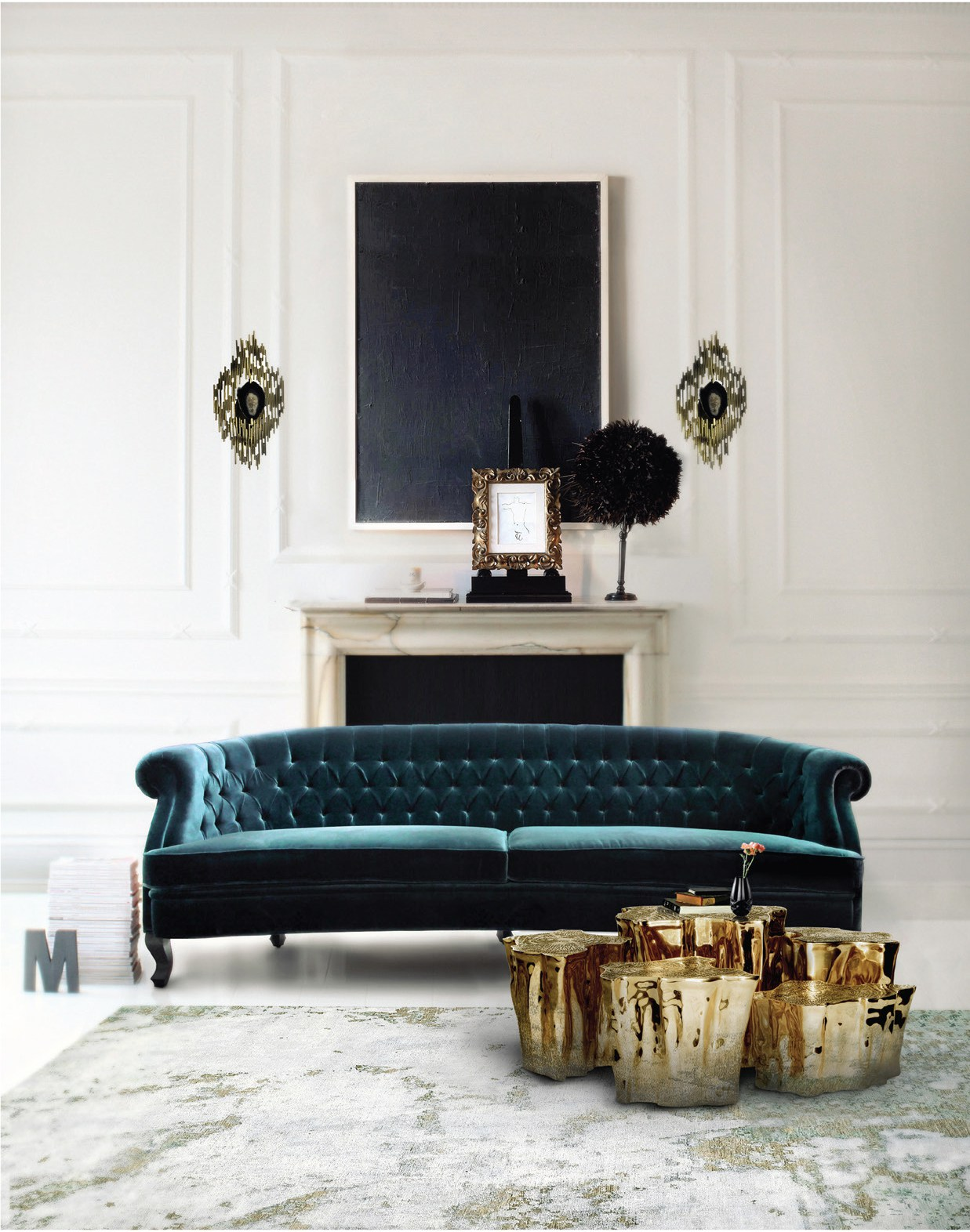 modern look living room how to decorate my small for christmas get a classic inspiration design books blog under large piece of or contemporary art and it will fabulous s about creating sense balance order
