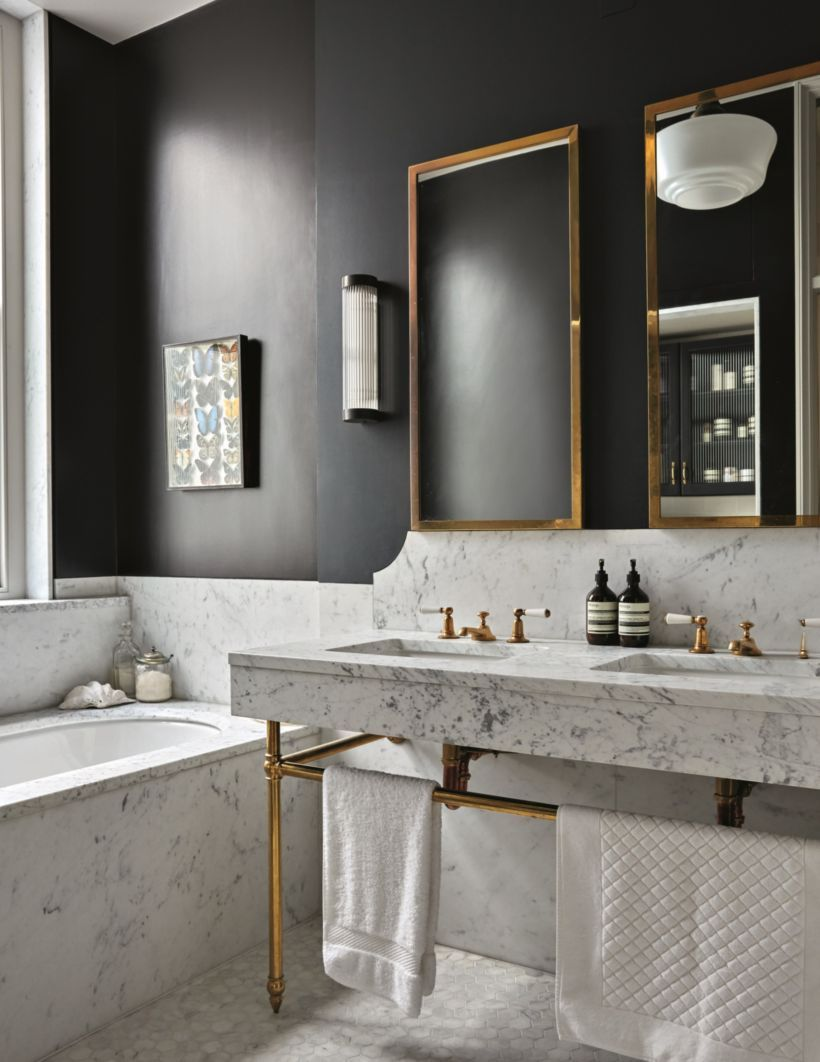 how to get a modern classic bathroom