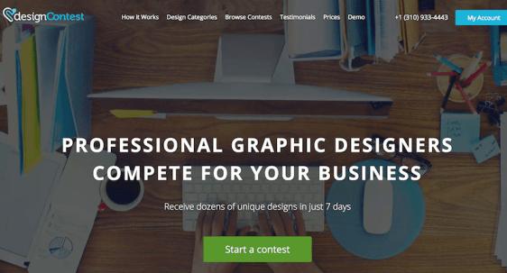 Designcontest website screenshot 2017