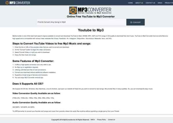 MP3 Converter - Youtube to MP3 Converter