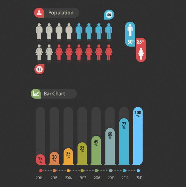 Infographic Vector Elements by Pixeden
