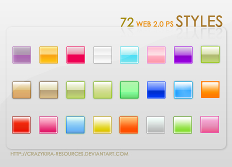 Web 2.0 Styles by Crazykira Resources