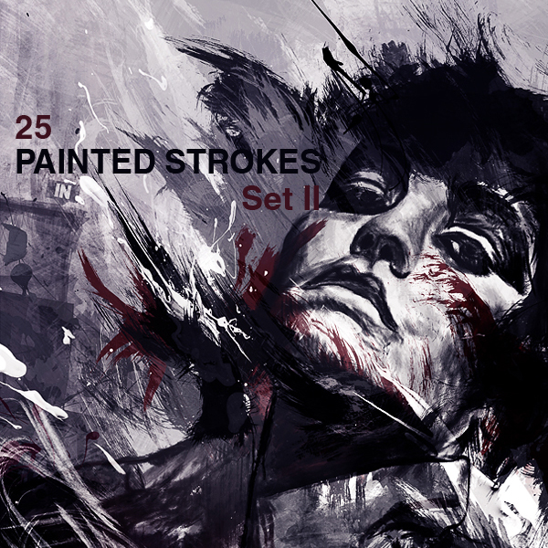 25 High-Res Paint Strokes