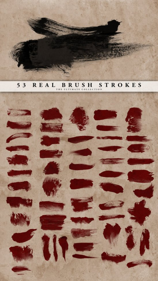 Real-Brush-Strokes-Set