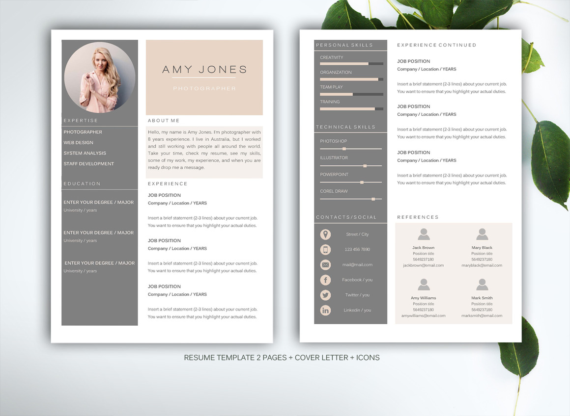 30 Sexy Resume Templates Guaranteed To Get You Hired