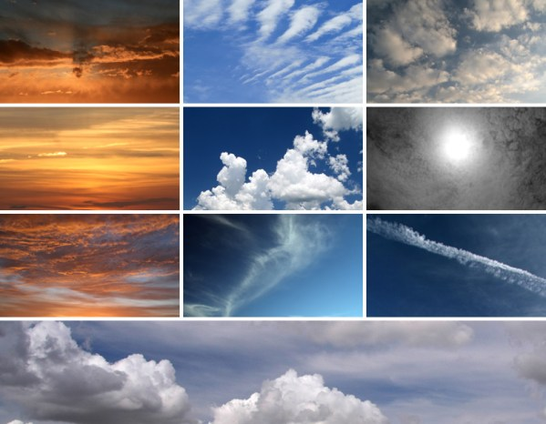 10 High Resolution Cloud Textures