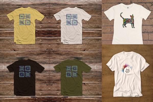 3 Free T-shirt Mock-ups