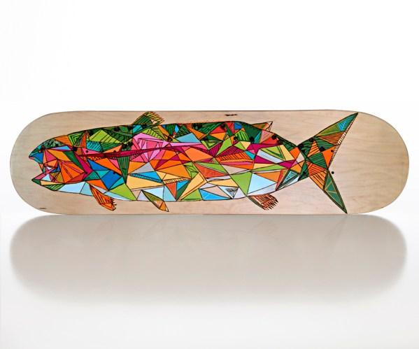 Ashby's No. 7 skateboard deck by Matthew Paris