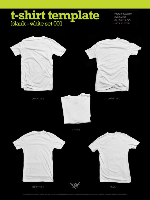 Blank T-Shirt Template by Angela Acevedo