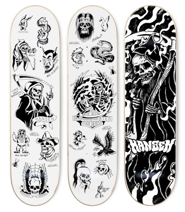 Skateboard decks by iamfalu for hansenclothing