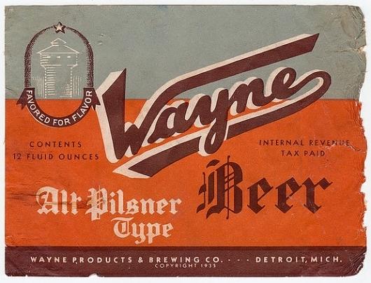 Wayne Beer Alt Pilsner Type