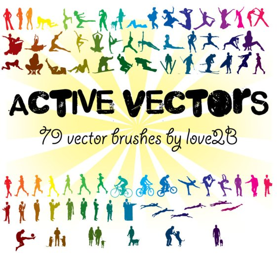 79 Pople Vector Brushes
