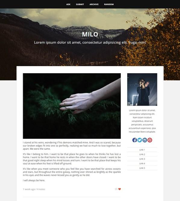 Milo Tumblr Theme