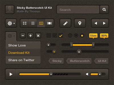 Sticky Butterscotch UI Kit by Made By Thomas