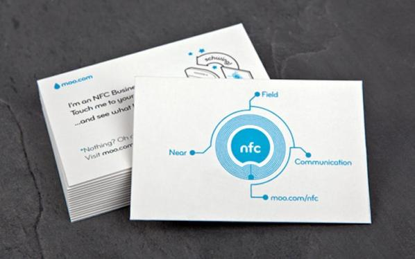 NFC enabled business card.