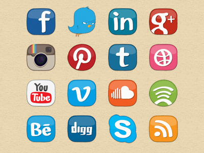 Social Media Icons by Erlen