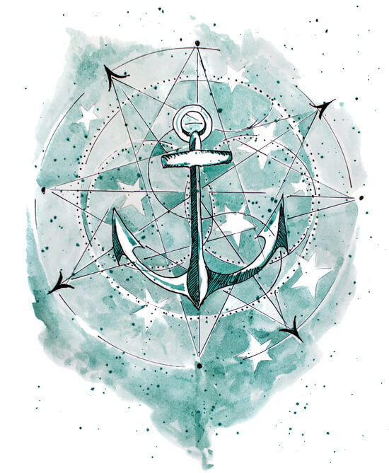 Anchor Sketch by Grace Wolf