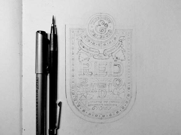Beer Label Sketch by Sam Lee