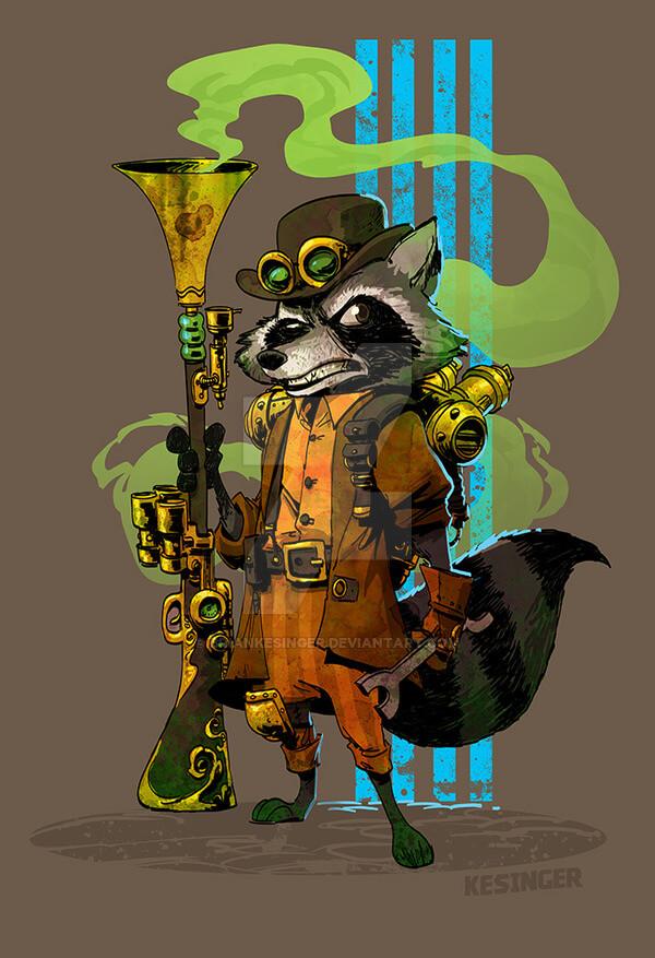 Sprocket Raccoon by Brian Kesinger