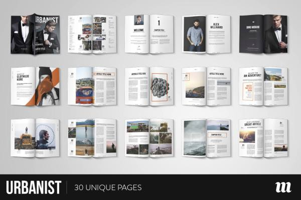 Urbanist Magazine InDesign Template