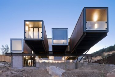 Caterpillar House built from shipping containers