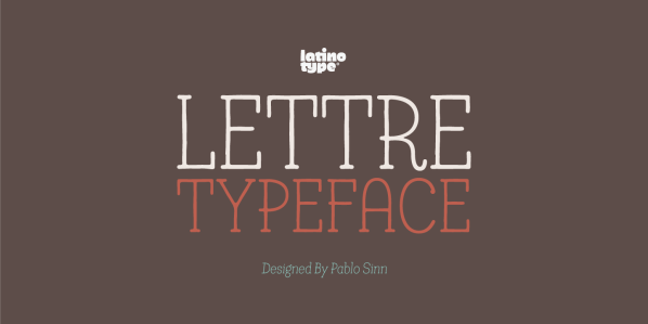 Lettre by Latinotype