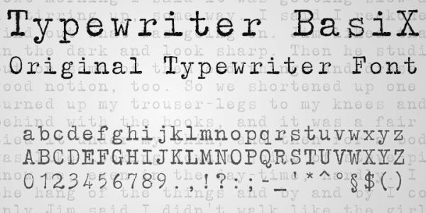Typewriter BasiX by Matthias Luh