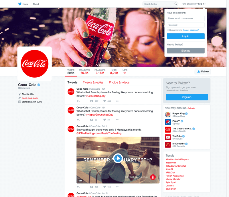 CocaCola Twitter