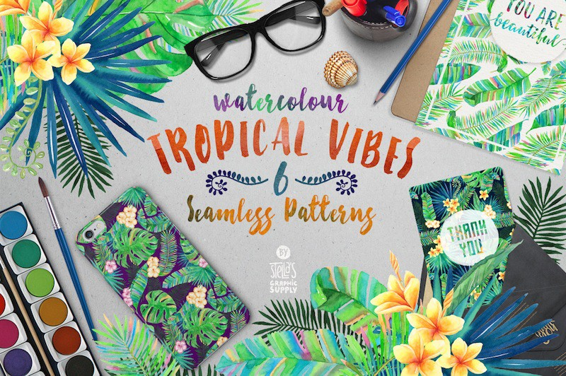 Tropical Vibes patterns