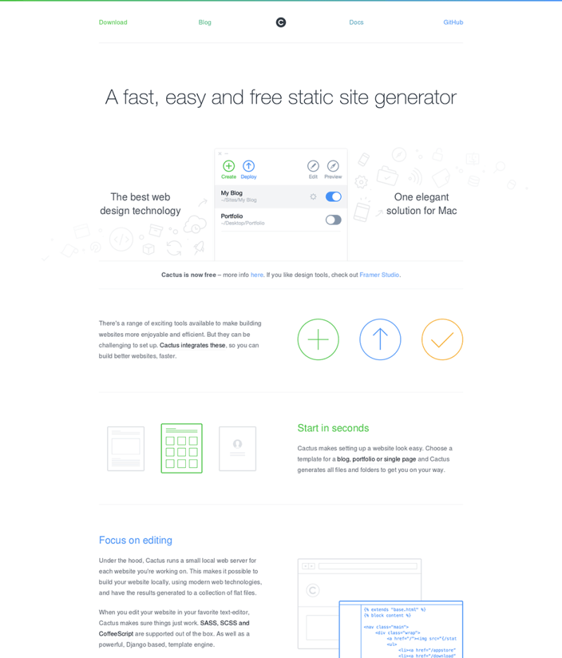 Cactus Product Landing Page